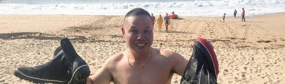 Kiama Surfclub members rescue rock fisherman